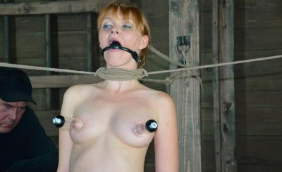 Very beautiful girl tries BDSM
