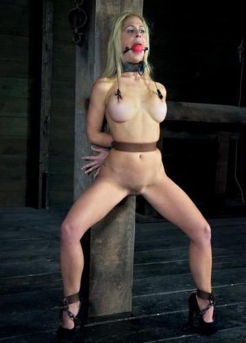 Hot blonde in a depraved BDSM