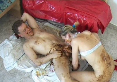Hot group sex in shit
