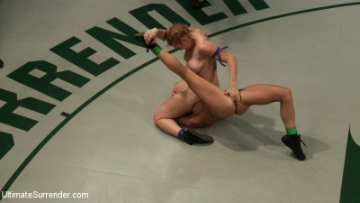 2 big titted blonds battle in