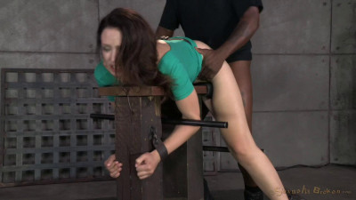Sarah Shevon restrained and drooling brutal deepthroat