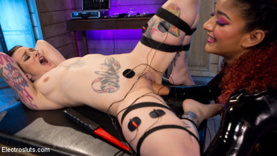 The Eager Electroslut: Bound, shocked and fisted!