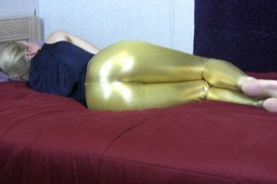 Tight Gold Pants Farting