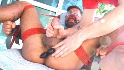 Delivery Gone Wrong - Uncut Stud Gets Edged By the Pizza Delivery Guy