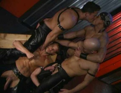 Genuine Leather Gangbang