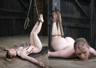 Her clit is tortured with pain