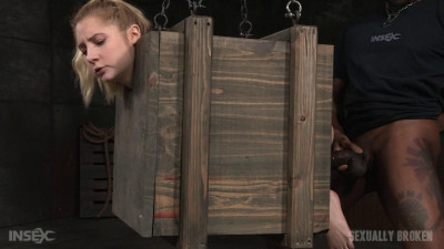 Odette Delacroix - Tiny fucktoy suspended in a box and taken from both side by big dick (2016)