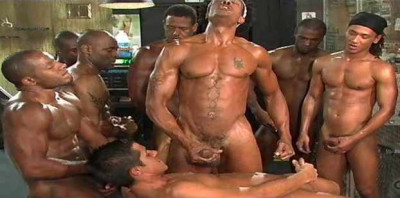 Black Balles In Rough Gangbang