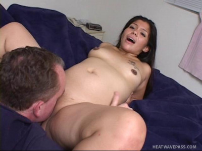 preganant brunette sucks and gets fucked
