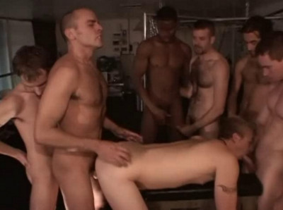 Non-stop orgy with 9 studs
