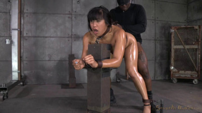 Hot Filipina Mia Li is Bound, Oiled, Brutally Face Fucked