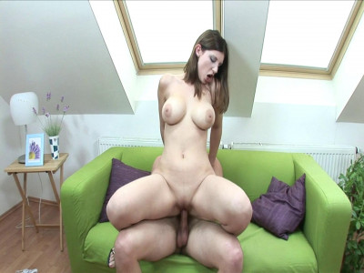 Big boobed babe rides her mans cock