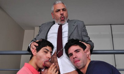 Two Hunks and Daddy (Older4Me)