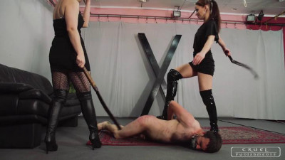 Mistress Anette And Domina Amazon - Brutal Scene part 1