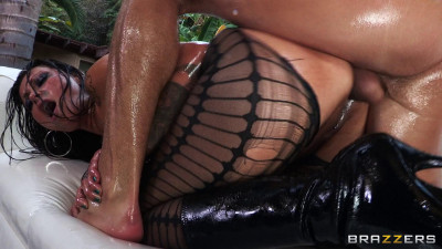 Dark-Haired Hottie Gets Her Ass Drilled All Day