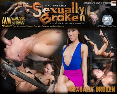 Legendary Kalina Ryu bound and used hard in classic fuck me position with facefucking and vibrators!