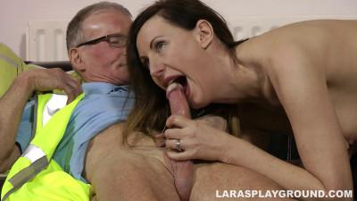 OAP Dwarfed by Leggy Lara