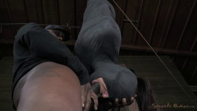 SexuallyBroken  Brutal Blindfolded Deep Throat