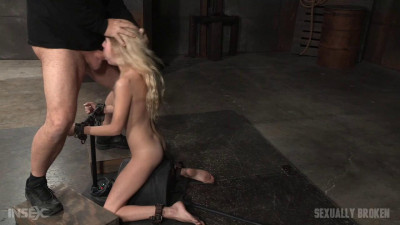 Odette Delacroix - Deepthroat queen shackled to a sybian and throat trained by BBC (2016)
