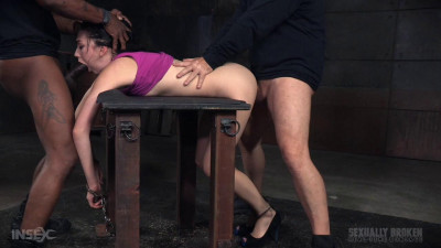 ria Alexander's BaRS show continues with handcuffed rough sex and punishing drooling deepthroat!