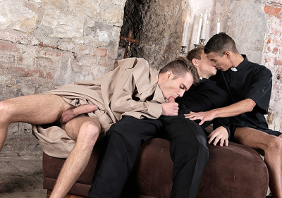 A bible banging threesome with Sven, Will and Adrian (Adrian Smal
