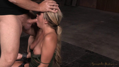 Sexy Blonde Madelyn Monroe Restrained On Vibrator Facefucked By Hard Cock (2015)