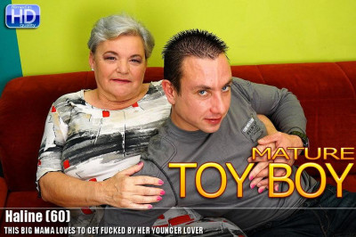 Hot granny and her young lover