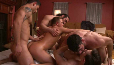 First Gang Bang For Young Slut