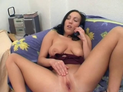 Sexual bliss for a brunette