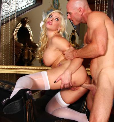 His Cock Balls Deep In Her Ass