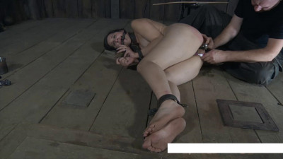 Gagged and with a club in the ass