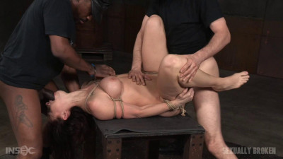 Lush brunette tightly tied in rope and roughly fucked
