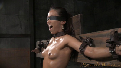 SexuallyBroken – Jun 17, 2015 – Natural Born Sexbot Kalina Ryu Throatboarded