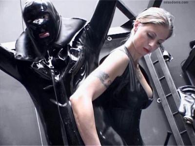 Hard Dominating Rubber Slave