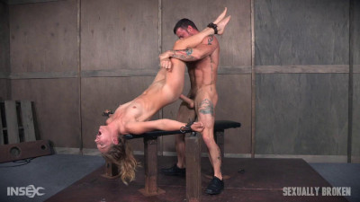 Dominatrix gets bound and brutally fucked.
