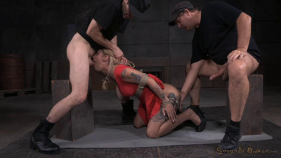 Kleio Valentien tied up and passed around