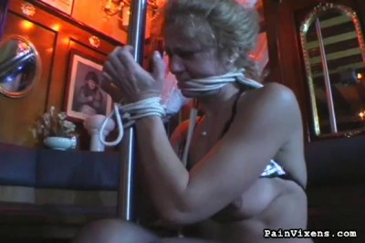 Description PainVixens Bondage barmaid treat