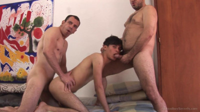 Two men fucked student