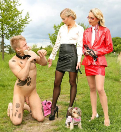 Give That Dirty Dog A Double Dose Of Blondie Cock Play!