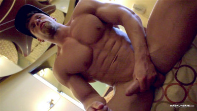 Bodybuilder In Solo Action