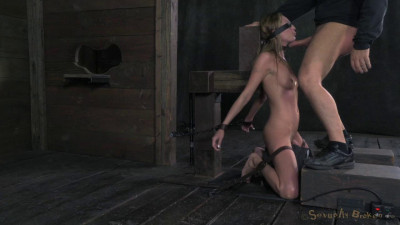 Roxy Rox Turned Into Cocksucking Machine, Brutal Deepthroat, Blindfolded, Bound, Drools Helplessly!
