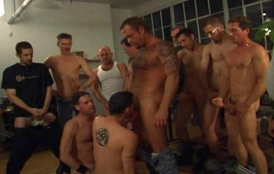 Sexy boys on cum gangbang