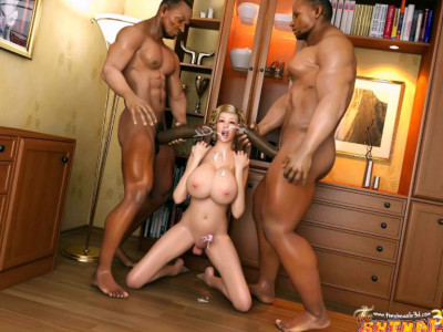Big Titty 3d Shemale Gets Cumshot