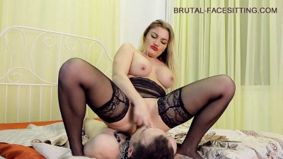 Lick for stocking Mistress
