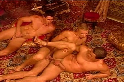 [Pacific Sun Entertainment] Three Muscular Guys Have Gay Sex Of Their Life.