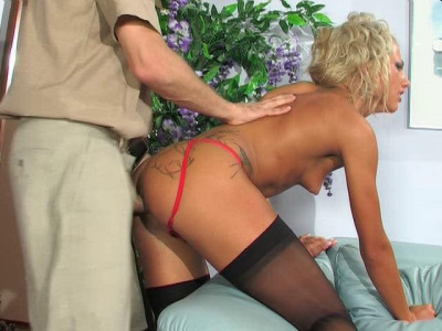 Beauty fucked in the ass directly in the waiting room