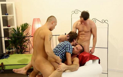 Filthy twinks in extreme gangbang & fisting