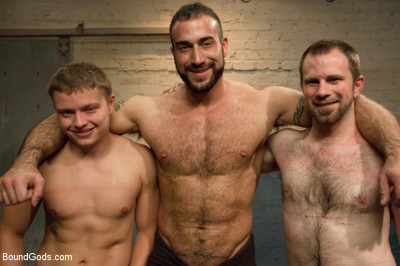 Kink: Bound Gods - Van Darkholme, Spencer Reed, Micah Andrews, Dante - A Brand New Boy - October Live Shoot