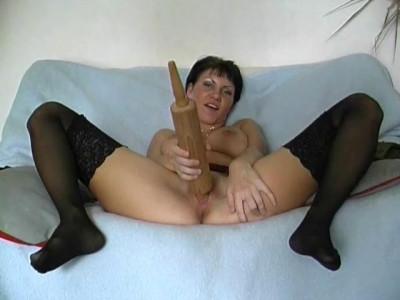 Bizarre masturbation session