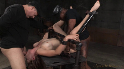 Mona Wales shackled in classic fuck me position